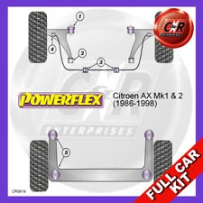 Citroen AX Not Gti 86-98 M12 Rr Beam, Non Spt Susp, Not 19mm FrARB Powerflex Kit