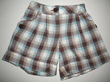 Mayoral Great Shorts Size 116 Brown-White-Turquoise Check!!!