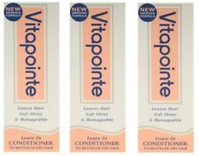 3 x Vitapointe Leave In Dry Hair Conditioner 30ml Each