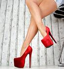NEUF DE LUXE CHAUSSURES FEMME FÊTE Escarpins Talons Hauts XXL plateforme sexy