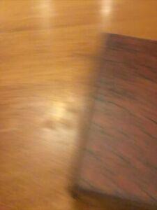 Faux Wood & Leather Book Storage Stash Box Decor Magnetic Closure!