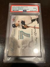 2000 Fleer Tradition Mickey Mantle Mantle Pieces Game Used Jersey PSA Mint 9
