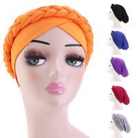 Muslim Women Braid Hat Hijab Chemo Cap Turban Headscarf Wrap Islamic Hair Loss