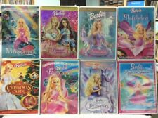 Barbie 8 DVD Lot! Christmas Carol Mermaidia Fairytopia Thumbelina Swan Lake