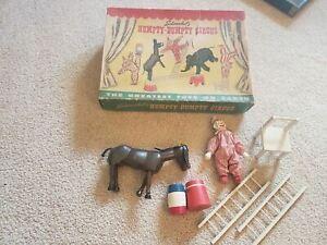 Vintage Schoenhut's Humpty Dumpty Circus Clown Donkey Props Original Box  NICE