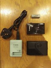 Canon Ixus 500 HS (12x OPTICAL ZOOM) with Charger & Leather case Metallic Black
