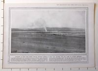 1915 WWI WW1 PRINT ~ BRITISH INFANTRY AT SUVLA BAY CROSSING SALT LAKE ANAFATA