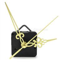 Mouvement Mécanisme D'horloge Quartz 3 Aiguilles Doré Murale Pendule Réparation
