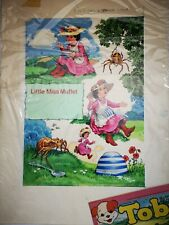 More details for little miss muffet original painting art work for toby comic 33 1976 spider