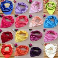 Womens Imitation Silk Square Scarf Neckerchief Head Neck Warp Scarves Headband