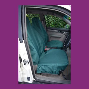 Front Car Van Green Waterproof LARGE Universal Airbag Compatible Seat Covers
