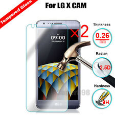 2Pcs 9H+ Premium Tempered Glass Film Screen Protector Film  For LG X Cam