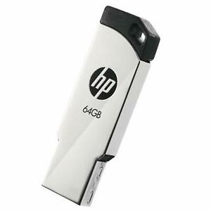 HP v236w 64GB USB 2.0 Flash Drive Metal (Gray)