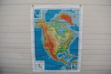 "Ranally Physical-Political Map of North America - 44"" x 60"" - Rand McNally & Co"