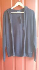 Polo Ralph Lauren Men's Merino Wool Full-Zip Hoodie Hunter Navy Medium NWT $245