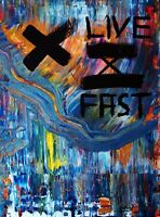 C. FANTA - GEMÄLDE abstrakte Kunst Bild ORIGINAL Leinwand MALEREI art Acryl neu