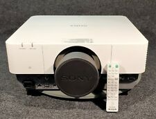 SONY VPL-FH500 WUXGA PROJECTOR w/ REMOTE CONTROL, LENS COVER. ONLY 285 LAMP HRS!
