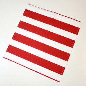 2er Set Stoff- Serviette Baumwoll Servietten 40x40 cm rot weiß gestreift