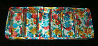 Vintage Satin Quilted Divided Drawer ORGANIZER Box Bogene Multi-color Floral
