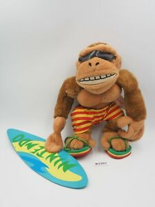 "Rare Donkey Kong B2307 FUNKY Kong Banpresto 1995 Plush 8"" Toy Doll Japan"