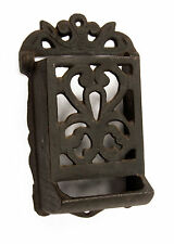 Vintage Wrought Iron Made in Taiwan Wall mount Matchbox Match Holder