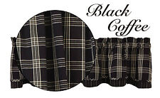 Window Curtain Lined Layered Valance - Black Coffee by Park Designs
