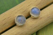 Ohrstecker Ohrringe Silber 925 Sterlingsilber Regenbogen Mondstein weiß Stein