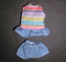 Barbie, KELLY, SHELLEY Doll clothes: Denim top & shorts, Heart family?