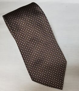 "Astor & Black Mens Necktie 100% Silk Brown High End Luxury Tie 58""x4"" Custom"
