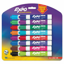 Expo 1927526 Low Odor Dry Erase Markers Chisel Tip Vibrant Colors 16 Count