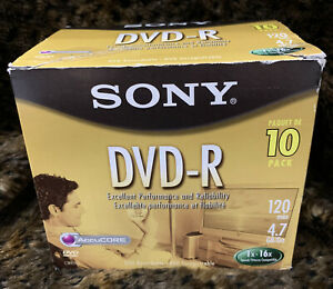 Sony DVD-R Disc 10-Pack New Open Box