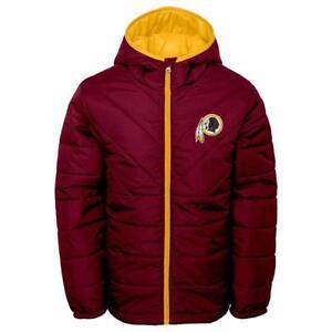 Washington Redskins NFL Boys' Maroon Quilted Jacket Size XS (4/5) - NWT