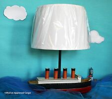 POTTERY BARN SHIP (STEAM) COMPLETE LAMP - NIB - SMOOTH SAILING INTO FUN DÉCOR!