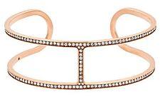 Michael Kors  - Pave Rose Gold-Tone Maritime Open Cuff Bracelet MKJ4435791