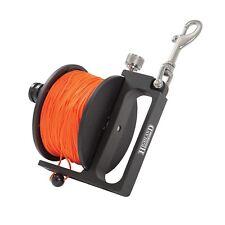 XS SCUBA Highland Tech Reel One Piece Delrin Spool Lock Orange Line 400 FT