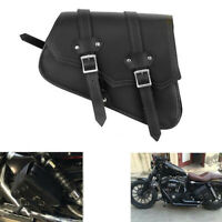 Motorcycle Left Right Cruiser Motorbike Side Pouch/Bag Saddle Bag PU Leather NEW