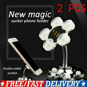 Rotatable Multi-Angle Double-Sided Phone Holder 360 Degree Portable Suction 2PCS