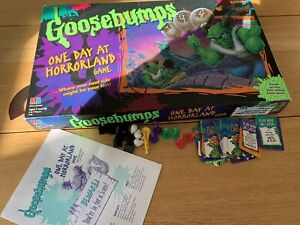 GOOSEBUMPS ONE DAY AT HORRORLAND 1998 BOARD GAME VINTAGE GOOD CONDITION FREE P&P