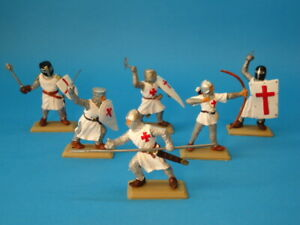 DSG ARGENTINA * TEMPLAR KNIGHTS CRUSADERS (RED CROSS) * PLASTIC TOY SOLDIERS