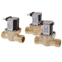 G1/2'' Brass Electric Solenoid Valve DC 12v 24v AC220v for Solar Water Heater NT