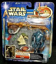 Star Wars Attack of the Clones YODA w/Super BATTLE DROID New! Rare!