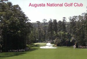 "Augusta National Golf Course, Georgia, Hole 10 "" Camellia "" --- Stadium Postcard"