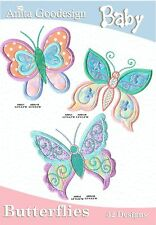 Anita Goodesign Baby Butterflies Embroidery Machine Design CD