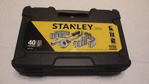 "Stanley STMT71648 Metric & SAE 1/4 & 3/8-inch Socket Set 3/8"" Ratchet 40 Pcs NEW"