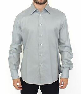 NEW ERMANNO SCERVINO Gray Cotton Long Sleeve Casual Shirt Top s. IT50 / L