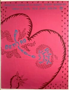 Ana Albertina Delgado. Poster. Castillo de La Fuerza, 1989. Limited Edition