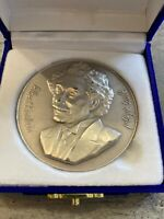 Relativity Theory 100 Years 2 Silver Coins Israel 2005 Albert Einstein box+COA