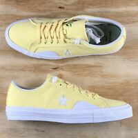 Converse One Star Pro Ox Chocolate Low Top Yellow White Seude Casual Shoes Size