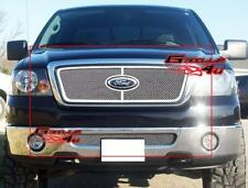 Fits 2006-2008 Ford F-150 Honeycomb Style Stainless Wire Mesh Grille Combo
