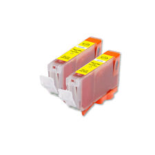 2 YELLOW Replacement Printer Ink for CLI-8 Canon MX850 MX700 MP500 MP610 MP830